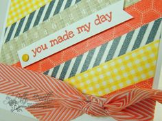Stampin up washi tape card by Patty's stamps