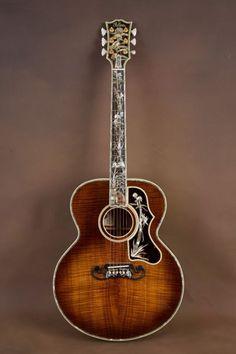 Gibson SJ-200 Koa Master Museum Custom Acoustic Guitar! J-200