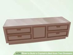 Image titled Build a Captain's Bed from Two Dressers Step 1