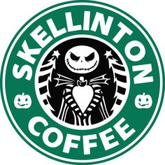 Skellington Coffee Nightmare Before Christmas Starbucks Vinyl Decal Sticker