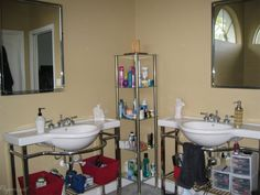 Two Sinks No Storage - my 'before' master bathroom