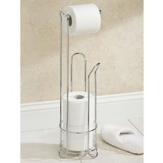 European Style Roll Stand Popular Modern Minimalist Stainless Steel Floor Type Toilet Paper Holder #Affiliate