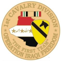 1st Cavalry Division Operation Iraqi Freedom Pin by MilitaryGearUSA. $2.95. This cloisonne pin is 1 1/8 in size.