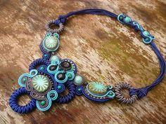 Soutache Necklace Designer soutache necklace by ZoojaDesign, $100.00