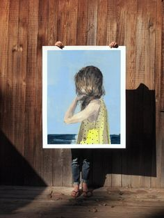 Seaside .  extra large wall art . giclee print by ClareElsaesser
