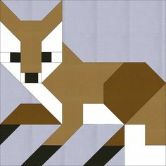 This pattern provides instructions for making the Fox #1 quilt block only. This modern patchwork pattern does not give instructions for making a