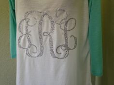 Live out your glory days in this high-low raglan tee! Personalize it with your monogram for a fun casual look! Available at Belle La Vie Boutique...  and Strong Stitch