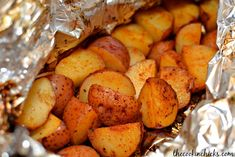 Grilled Potato Packets- The Cookin' Chicks