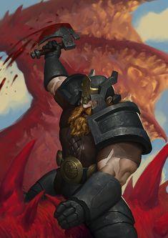 Dragon Slayer, Maroš Manhardt on ArtStation at https://www.artstation.com/artwork/1DVxL