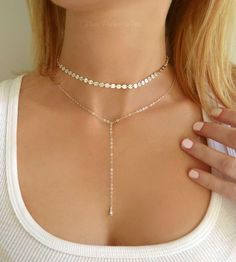Choker Necklace Gold - Chain Choker Necklace Silver - Layering Necklace