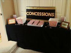 Oscar/Academy Awards Party Concession Table - cute idea!