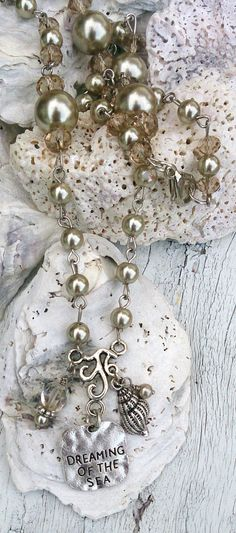 Dreaming Of The Sea Pearl Necklace Antique by SecretStashBoutique