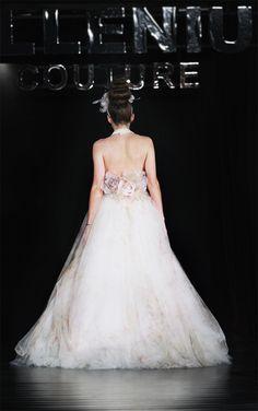 Hillenius Couture Flowers Tulle Wedding Dress Bridal Fashion Trouwen Bruiloft