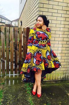 Attractive shweshwe dresses For Women 2019 ShweShwe 1 Short African Dresses, Latest African Fashion Dresses, African Print Dresses, African Print Fashion, African Prints, African Wedding Attire, African Attire, African Wear, African Style