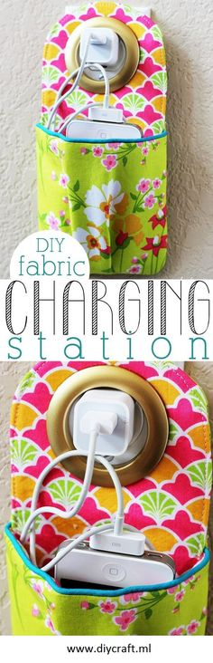 Make Cute DIY Fabric Phone Charging Station