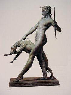 "You're all in love with Artemis."" - RICK RIORDAN - (Bronze sculpture of Artemis / Diana by Edward McCartan) Art Sculpture, Bronze Sculpture, Traditional Sculptures, Art Deco, Harlem Renaissance, Figurative Art, Art History, Sculpting, Buddha"