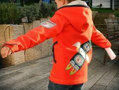 #Softshelljacke Gr.104 Schnitt aus #Ottobre #Rakete Stickdatei: #welcomeOnBoard von #HamburgerLiebe #Kunterbunt-Design