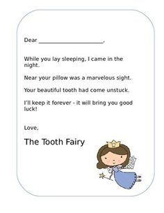 Tooth Fairy Letter Lost Tooth Editable Printable - Ready t Tooth Fairy Note, Tooth Fairy Pillow, Tooth Fairy Letter Template, Letter Templates, Lost First Tooth, I 9 Form, Beautiful Teeth, Stronger Teeth, Gift Wraping