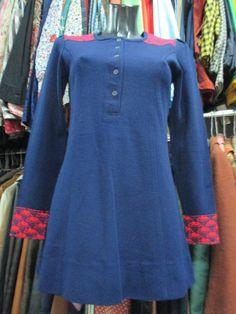 Mini vestito anni 60 blu/ 1960'mini blue dress di FermataDautobus su Etsy