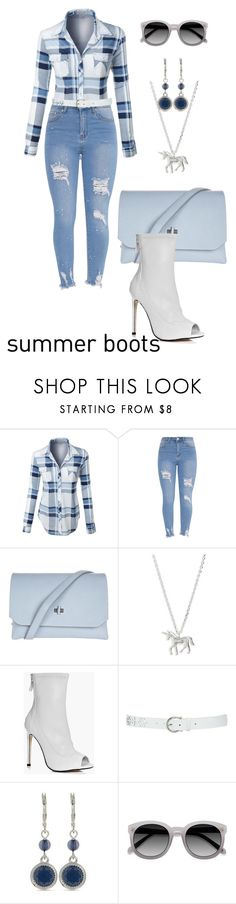 """""""Untitled #2179"""" by nadia-n-pow on Polyvore featuring LE3NO, Topshop, Estella Bartlett, Boohoo, M&Co, Nine West and summerbooties"""