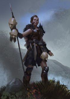 Warrior Lady by Even Mehl Amundsen