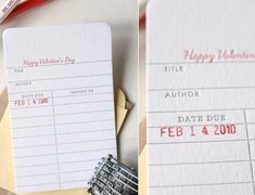 Etsy Finds: Library Card Valentine