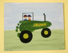 Cute Tractor Footprint Craft Project