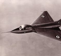 The Avro 707C, circa 1953.  The Vulcan bomber was based on this design (although this test plane was 1/3rd the size of the Vulcan).