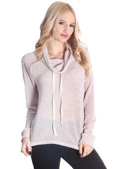 Blush Knit Cowl Neck Sweater #wholesaleclothing #wholeasalefashion #Boutiqueclothing #wholesaleboutiqueclothing #womenswholesaleclothing