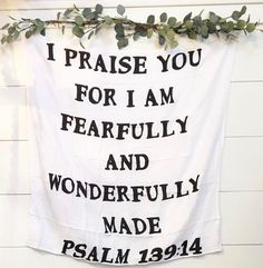 Truth ✨  Love the touch of greenery @the.vintage.industry added to our scripture swaddle when she hung it in their shop!
