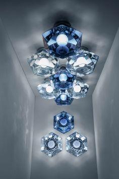 """Tom Dixon explores """"futuristic optics"""" with lighting launches in Milan"""