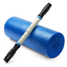 Exercise Foam Roller - Professional Grade, High-Density Incorporates Unique 2 In 1 Trigger-Point Design - Massages, Soothes, Refreshes And Invigorates - Fits Conveniently Inside Your Sports Bag -Light Blue