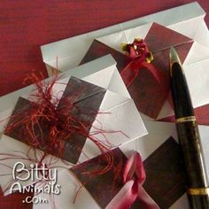 Make your own origami heart envelopes, very easy tutorial