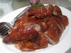 Chinese roast duck makes my mouth water