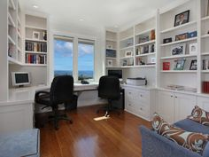 """View this Great Contemporary Home Office with Crown molding & Built-in bookshelf in Dana Point, CA. The home was built in 2011 and is 2780 square feet. Discover & browse thousands of other home design ideas on Zillow Digs. Home Office Space, Home Office Design, Home Office Decor, House Design, Home Decor, Office Ideas, Desk Ideas, Small Office, Loft Office"