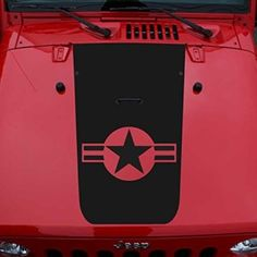 Slim Jeep JK Navy Style Hood Blackout Decal