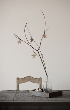 Diy: Decorate Your Dining Area With Twigs And Leather Stars