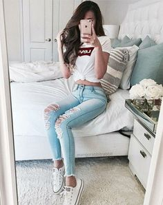 """Everything about """"Teenager Outfits"""" Tumblr Outfits, Mode Outfits, Tumblr Clothes, Teen Fashion Outfits, Girl Fashion, Girl Outfits, Casual Outfits, Tumblr Fashion, 90s Fashion"""
