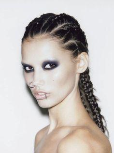 Smother Me by Vince Kidd on SoundCloud Makeup Inspo, Makeup Inspiration, Beauty Makeup, Eye Makeup, Hair Makeup, Hair Beauty, Bleached Eyebrows, Blonde Eyebrows, Black Smokey Eye