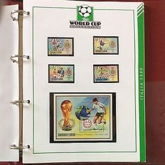World cup #italia 90 #stamp collection by #westminster - rare & highly collectabl,  View more on the LINK: http://www.zeppy.io/product/gb/2/222175441404/