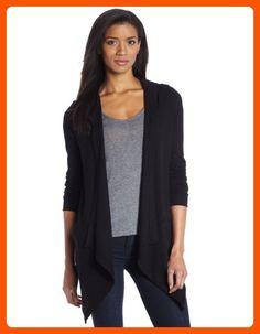 Splendid Women's Thermal Wrap Hooded Cardigan, Black, Medium - All about women (*Amazon Partner-Link)