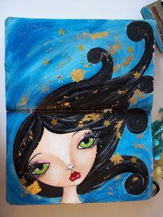 www.meganscreativebliss.blogspot.com www.facebook.com/meganksuarezfineart Art Faces, Face Art, Creative Journal, Creative Art, Fun Illustration, Art Journal Inspiration, Journalling, Girls 4, Naive