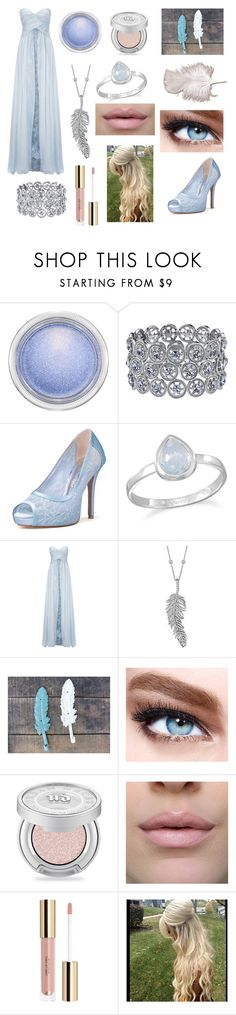 """""""Gowns - blue & White"""" by theultimatefashionlover ❤ liked on Polyvore featuring MAC Cosmetics, 1928, BillyTheTree, Ariella, Penny Preville, Maybelline and Urban Decay"""