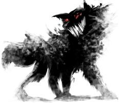 (Nam) A first attempt at a new form of art. Horror-style. The reference used for this image was the Big, Bad Wolf from *Endling's story [i]Ever After[/i], as well as the many tales of the ghos...