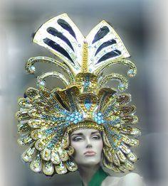 Da NeeNa H011 Drag Pharoah Crystal Egypt cleopatra Cabaret Showgirl Headdress