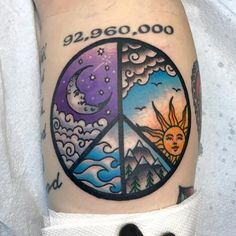 If you are looking for a tattoo design popular around the world, then you should consider peace sign tattoo that is among the top designs around the world. Music Tattoos, New Tattoos, Hippie Tattoos, Tatoos, Small Tattoos, Wolf Tattoos, Feather Tattoos, Foot Tattoos For Women, Tattoos For Guys