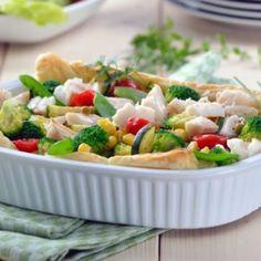 Foietaj cu legume și pește