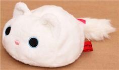 round white Kutusita Nyanko cat plush toy