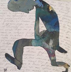 """Saatchi Art Artist Ilya Volykhine; Painting, """"Crooked Man, 2013"""" #art"""