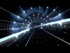 映像素材 動画素材 道路 ロード ライト 光 LED トンネル Tunnel tube space road a4a3